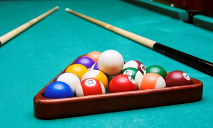 Billiards for Two or More at Peacock Billiards (Up to 55% Off). Two Options Available.