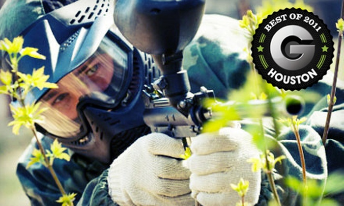 Tank's Paintball Park - Houston: All-Day Paintball Outing for 2, 4, or 10 at Tank's Paintball Park in Katy (Half Off)