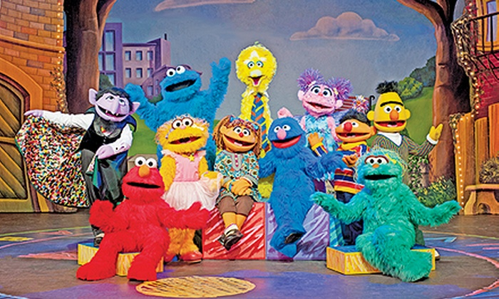"""Sesame Street Live: """"Can't Stop Singing!"""" - Brush / Stewarts: Sesame Street Live: """"Can't Stop Singing"""" at Ocean Center on October 2 at 10:30 a.m. or 6:30 p.m. (Up to 55% Off)"""