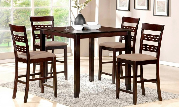 Sevilla 5 piece dining set groupon goods for Dining table set deals