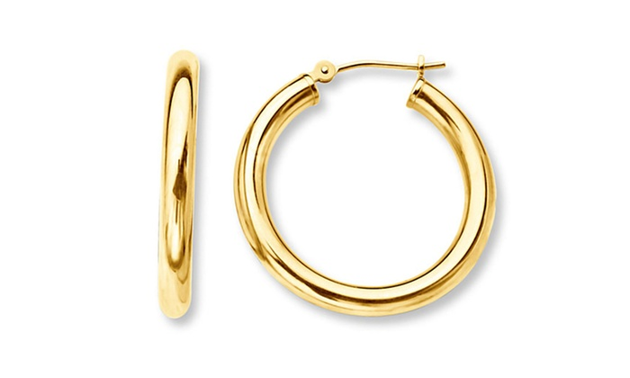 Solid 14k Gold Hoop Earrings