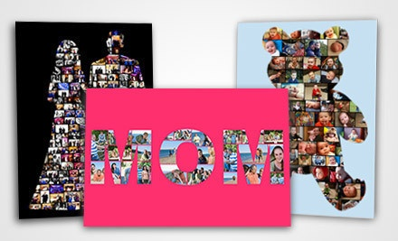 Custom Digital Photo-Collage Prints from Collage.com (Half Off). Three Options Available.