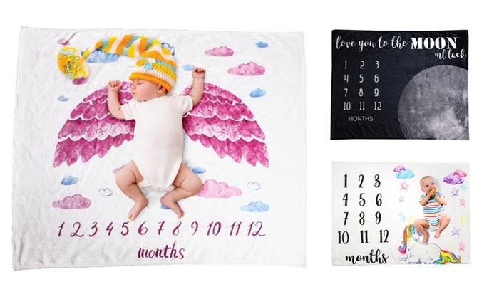 Baby Calendar Flannel Blanket