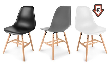 4 Kraft 2er- oder 4er-Set Esszimmerstuhl Hetta in Grau, Schwarz oder Weiß