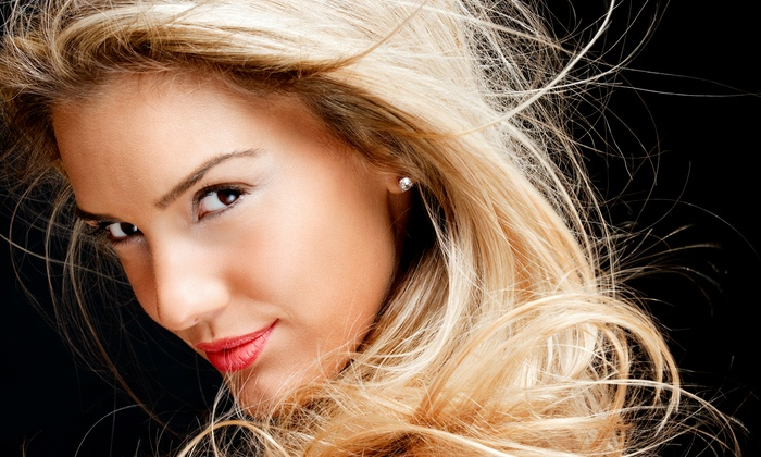 A & T Salon - South Columbus: $29 for Haircut, Style, and Partial Highlights at A & T Salon ($65 Value)