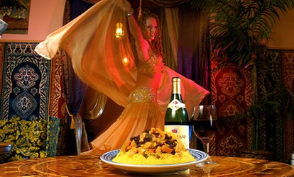 $34 for a Five-Course <strong>Moroccan</strong> Dinner for Two at Marrakesh <strong>Moroccan</strong> Restaurant ($43.90 Value)