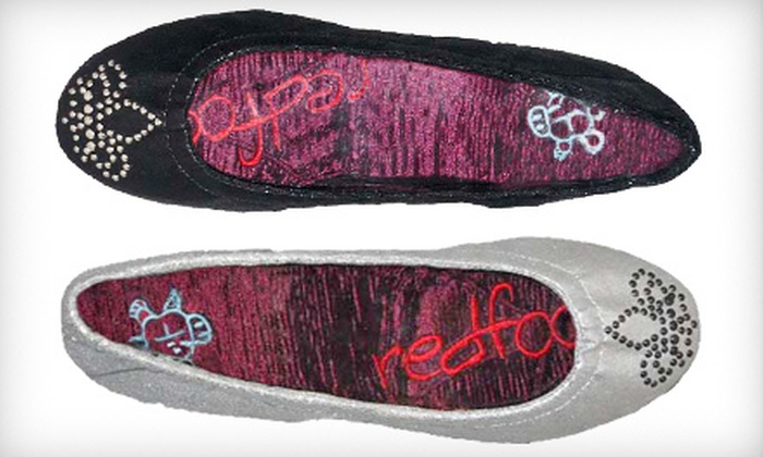 Redfoot Holly Foldable Flats: $19 for Redfoot Holly Foldable Flats in Black or Silver ($80 List Price). Four Sizes Available.