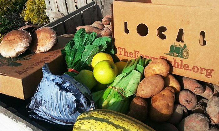 The Farm Table - Glen Allen: Produce Co-op Membership and Deliveries, or Add-On Box from The Farm Table (50% Off)