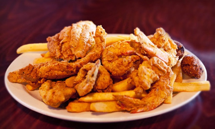 Fish Camp - Timber Creek Estates: Seafood and Southern Comfort Food at Fish Camp in Royse City (Half Off). Two Options Available.