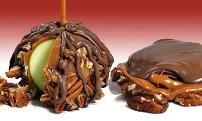 Kilwins - Grand Rapids: Three Plain, Peanut, or Pecan Caramel Apples, or Any Combination of Three at Kilwins (Up to 52% Off)