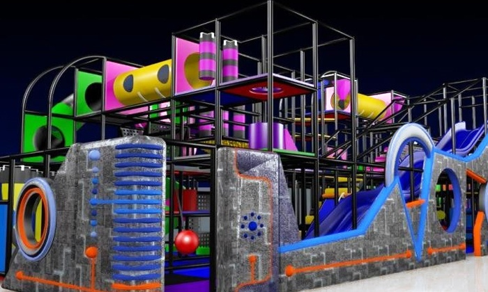 Galaxy Fun Orlando - Southwest Orange: Indoor Playground Admission for a Child 1–3 or 4–12 Years Old at Galaxy Fun Orlando (50% Off)