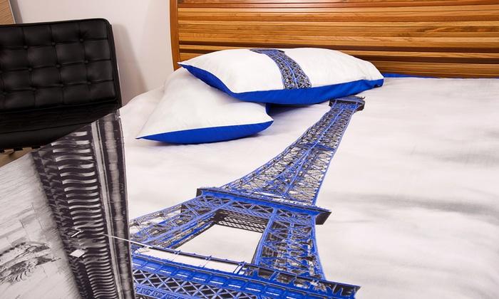 Lenzuola Matrimoniali Parigi.Lenzuola Matrimoniali City 3d Groupon Goods