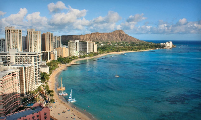 Seaside Hotel Waikiki - Waikiki: Three-Night Stay For Two with Valet Parking and Island Tour for One at Seaside Hotel Waikiki in Honolulu