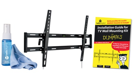 Tilting TV-Mounting For Dummies Kit for Most 37