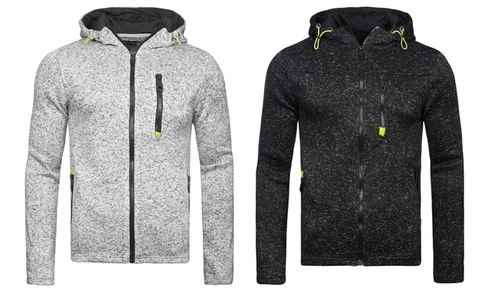 Men's Reflective Marl Full-Zip Hoodie from £13