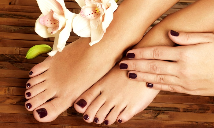 Nails Now - Pompano Beach Industrial Center: One or Two Regular Manicures and Deluxe Pedicures at Nails Now (Up to 56% Off)