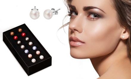 1 ou 2 coffrets de 7 paires de boucles d'oreilles en perles et plaqué or, dès 9,90 € (95% de réduction)