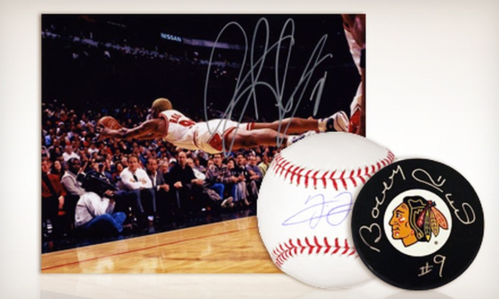 FHS Entertainment and The Ogden - Near West Side: Autographed Sports Memorabilia from FHS Entertainment (Up to 71% Off). Nine Options Available.