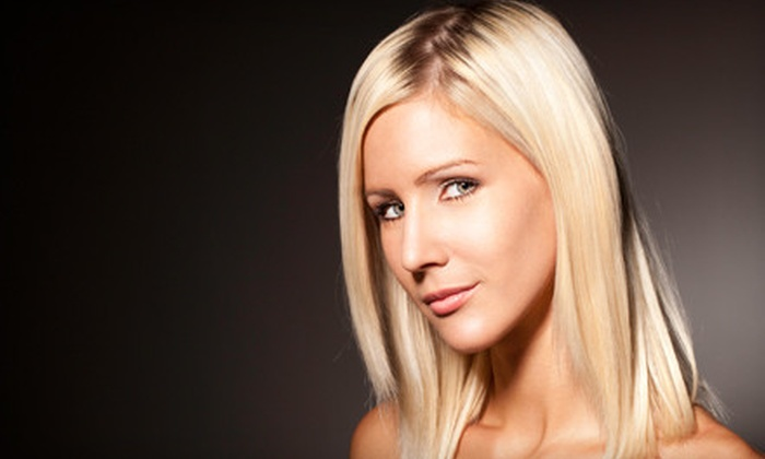 Metro Salon - Multiple Locations: Haircut with Options for Color or Partial or Full Highlights, or Keratin Treatment at Metro Salon (Up to 67% Off)