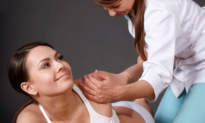 Dr. Jen Hartley - Jefferson Park: Chiropractic Package with One or Three Massages at Dr. Jen Hartley (Up to 85% Off)