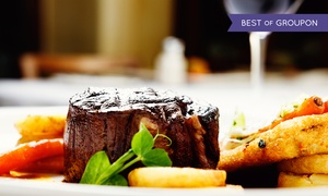 Carnegie Court Hotel: Steak Dinner with Wine for Two at Courtyard Restaurant at the Carnegie Court Hotel (39% Off)