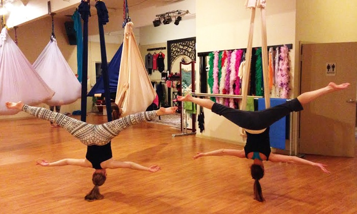 Ophidia Dance - Depot Bench: 5 or 10 Pole-Fitness and Aerial-Yoga Classes at Ophidia Dance (50% Off)
