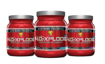 50-Serving Container of N.O.-Xplode 2.0 Pre-Workout Powder with Free 10-Serving Sample of Fruit Punch Flavor