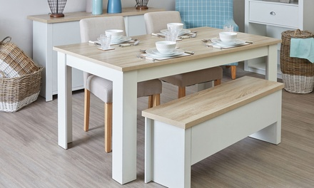 Small or Large St Ives Dining Table with Benches or Chairs With Free Delivery