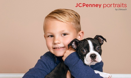 groupon.com - Family & Pet Photo Session at JCPenney Portraits (Up to 87% Off). Four Options Available.