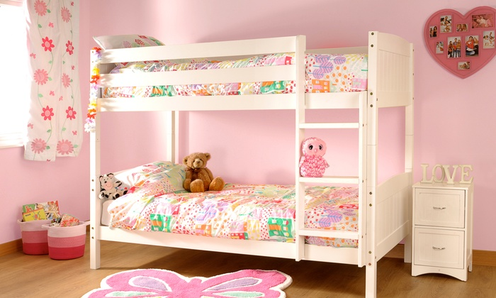 Pine Bunk Bed Frame with Two Optional Mattresses from £159