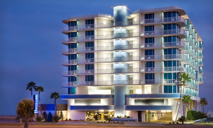 South Beach Biloxi Hotel & Suites - Biloxi, MS: One-Night Stay for Up to Four with Optional Dining Credit at South Beach Biloxi Hotel & Suites in Biloxi, MS