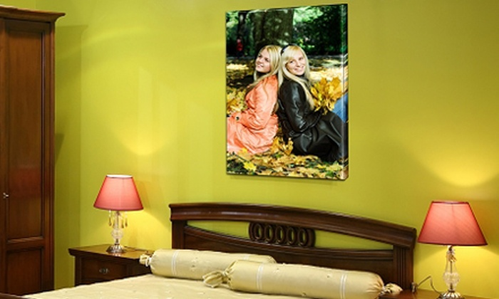 Personal Canvas Art - Athens, GA: Graphic T-shirt or Choice of Customized Canvas Print, Beach Towel or Blanket at Personal Canvas Art (Up to 60% Off)