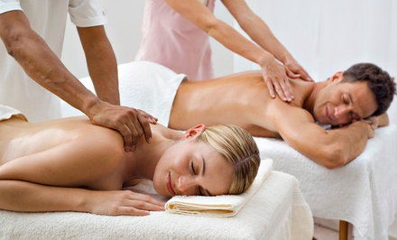 Massage, or a Couples Massage with a Jacuzzi Session, Snacks, and Mimosas (Up to 52% Off)