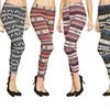 Six-Pack of Fleece-Lined, Nordic-Print Leggings