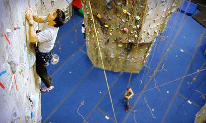 The Rock Club - New Rochelle: Intro Rock-Climbing Class and One Month of Unlimited Climbs for One, Two, or Four at The Rock Club (Up to 78% Off)