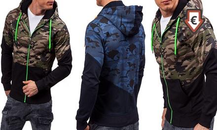 1 ou 2 sweats pour homme camouflage à capuche marque Balotti, coloris et tailles au choix dès 20,90 €