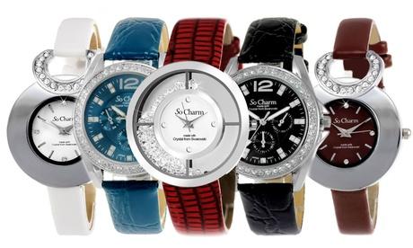 Reloj So Charm con Diamante y/o Cristales de Swarovski® Oferta en Groupon