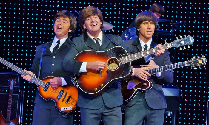 """B - A TRIBUTE to The Beatles - V Theater: """"B – A TRIBUTE to The Beatles"""" for Two or Four at Saxe Theater (Up to 75% Off)"""