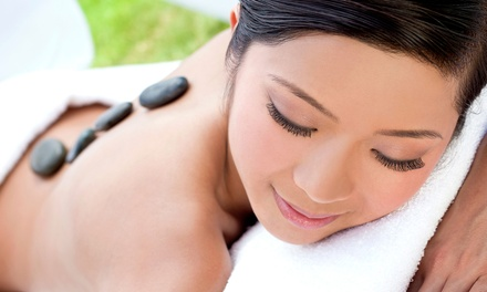 45Minute HotStone Massage with Optional Pedicure at Orya Beauty Boutique (Up to 58% Off)