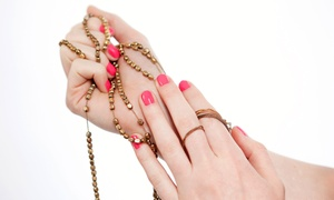 She's Nailin It: Gel Manicure or Organic Sugar Scrub Pedicure at She's Nailin It (Up to 51% Off)