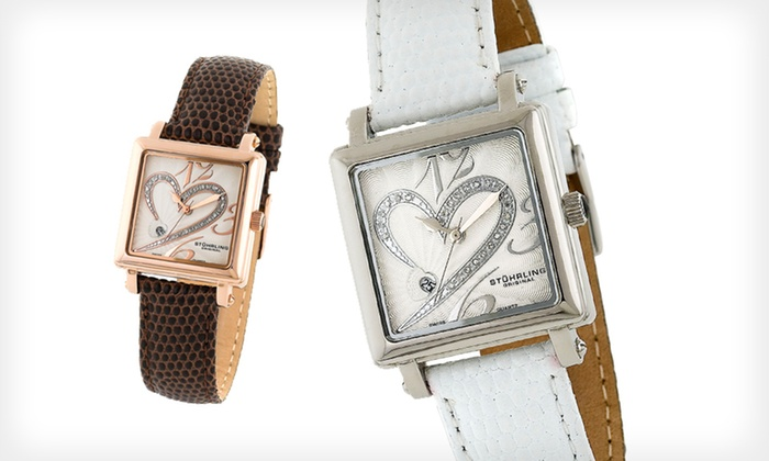 Stührling Original-Diamond or Sparkling-Crystal Accent Watches: Stuhrling Original Men's and Women's Watches (Up to 87% Off). 6 Options Available. Free Shipping and Free Returns.