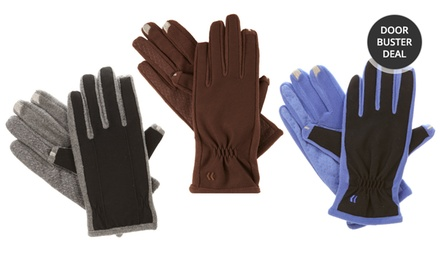 Men's and Women's Isotoner smarTouch 2.0 Tech Stretch Fleece-Lined Gloves. Multiple Styles Available. Free Returns.