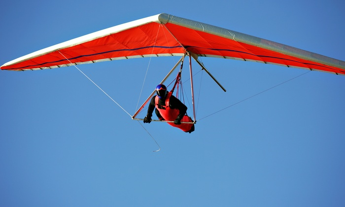 Dive High - Tracy: Hang-Gliding Lesson and Flight for One or Two at Dive High (Up to 56% Off)