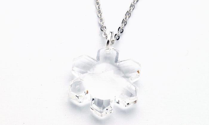 242e9ba89b Swarovski Crystallized Elements Snowflake Necklace | Groupon