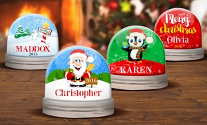 Up To 64 Off Personalized Snow Globes Groupon