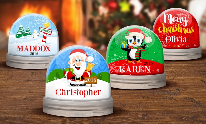 Personalized Snow Globes from Dinkleboo:  Personalized Snow Globes from Dinkleboo (Up to 64% Off)