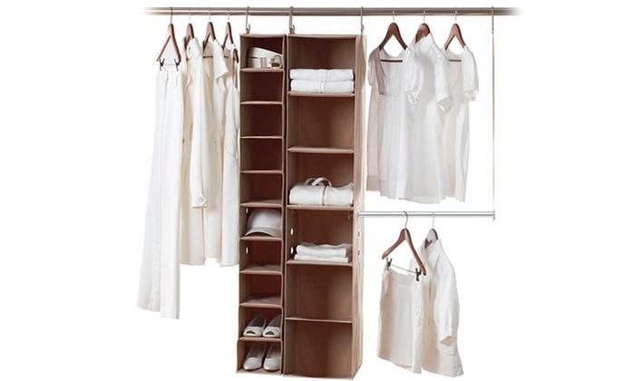 Neatfreak ClosetMAX Organization System: Neatfreak ClosetMAX System 3-Piece Closet-Organization System