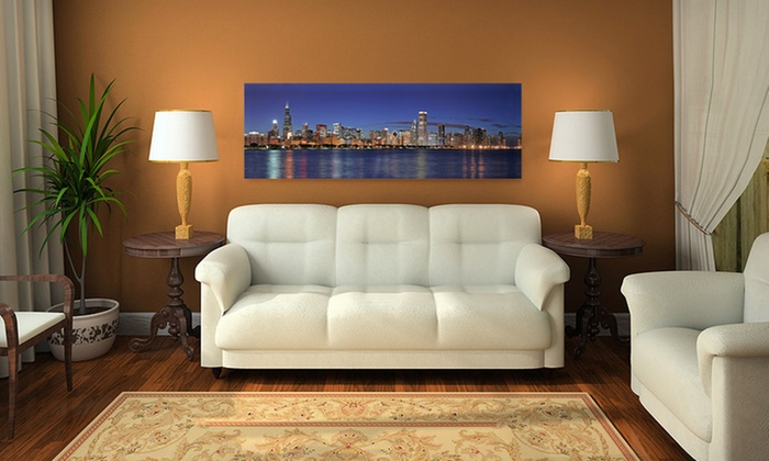City Skyline Gallery-Wrapped Canvas: $79 for a Gallery-Wrapped Skyline on Canvas ($199 List Price). 15 Options Available. Free Shipping and Free Returns.