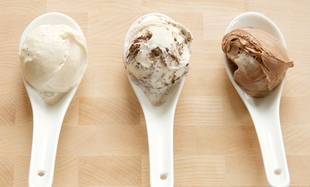 $7.98 for Three Vouchers for a Single Scoop of Ice Cream at Ice Cream Social ($12 Value)