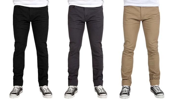 Men's Indigo Star Slim-Fit Twill Pants | Groupon